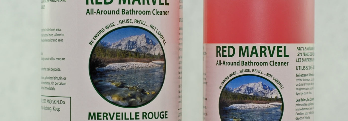 Red Marvel Bathroom Cleaner